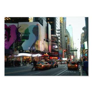 Times Square NYC 2012 3.5x5 Paper Invitation Card