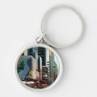 Times Square NYC 2012 Silver-Colored Round Keychain