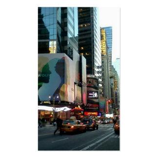 Times Square NYC 2012 Plantilla De Tarjeta De Visita
