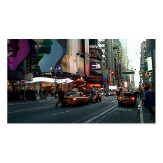Times Square NYC 2012 Plantilla De Tarjeta De Negocio