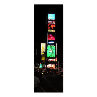 Times Square-NYC 2 Bookmark Double-Sided Mini Business Cards (Pack Of 20)