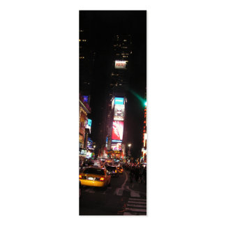 Times Square-NYC Bookmark Double-Sided Mini Business Cards (Pack Of 20)