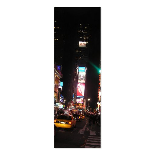 Times Square-NYC Bookmark Business Card Templates
