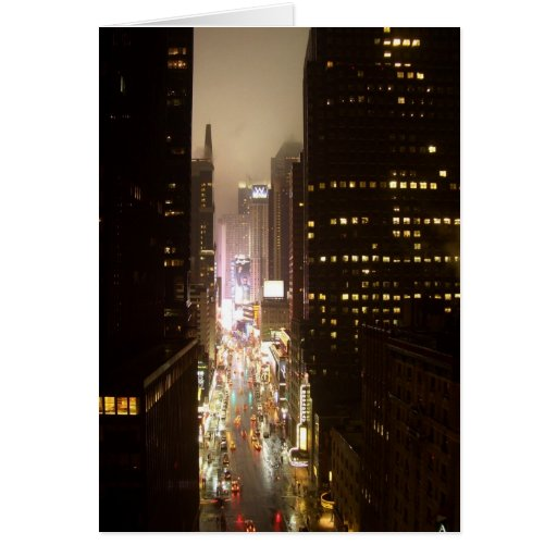 Times Square NYC Card