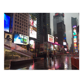 Times Square NYC New York City Rainy Day Postcard
