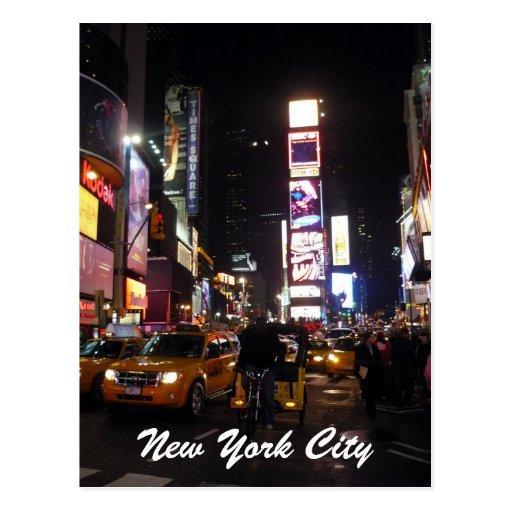 times square nyc postcard