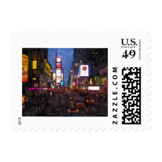 Times Square NYC Stamp