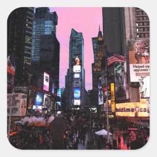 Times Square Pegatina Cuadrada