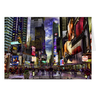 Times Square Photo in HDR Stationery Note Card