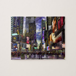 Times Square Photo in HDR Jigsaw Puzzle