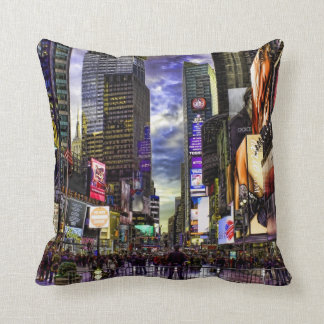 Times Square Photo in HDR Throw Pillow