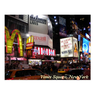 Times Square por la postal de la noche
