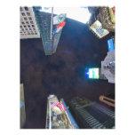 Times Square por noche Plantillas De Membrete