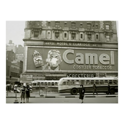 Times Square que hace publicidad: 1943 Póster