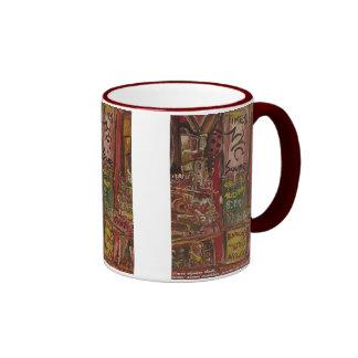 times square red ringer mug