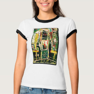 TIMES SQUARE RED WINE TEE SHIRT