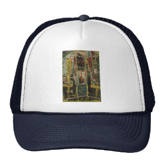 times square red wine trucker hat