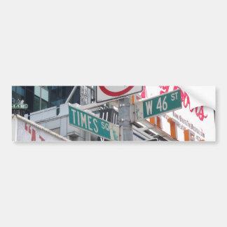 Times Square Signs Car Bumper Sticker