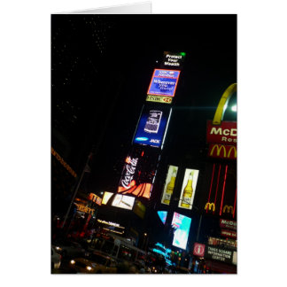 times square signs greeting card