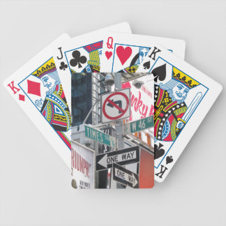 Times Square Signs Bicycle Card Deck
