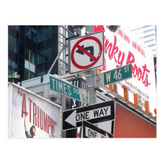 Times Square Signs Postcard