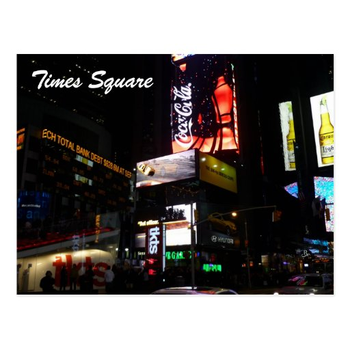 times square signs postcards