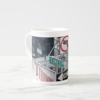 Times Square Signs Porcelain Mug