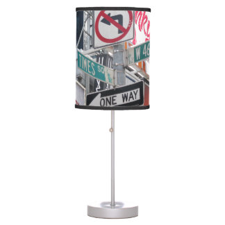 Times Square Signs Table Lamp