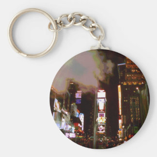 Times Square South at Night Keychain