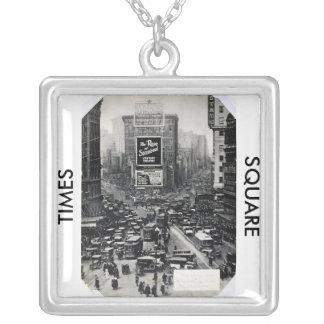 Times Square Square Pendant Necklace