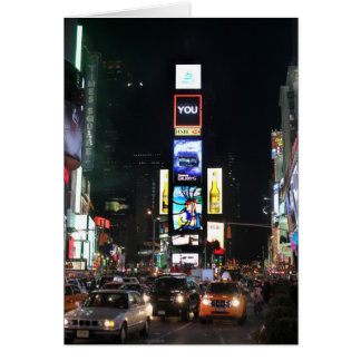 Times Square Tarjeta De Felicitación