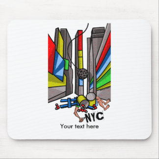 Times Square The Day After N.Y.E. celebrations Mouse Pad