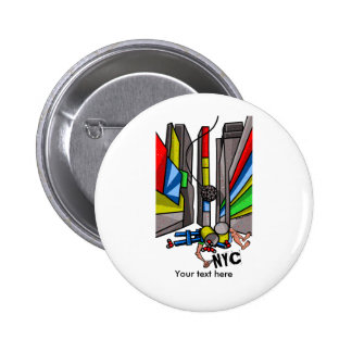 Times Square The Day After N.Y.E. celebrations Pinback Button