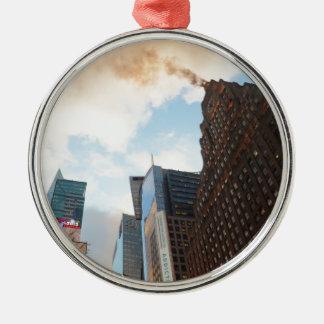 Times Square y el edificio de Paramount Adorno Navideño Redondo De Metal