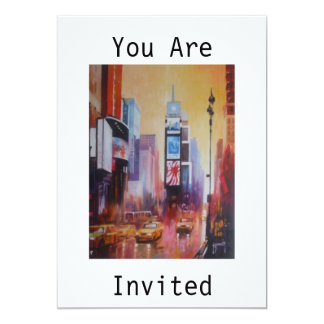 Times Square You Are Invited Invitation