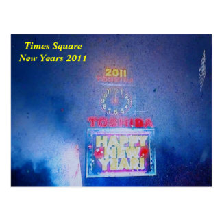 Times SquareNew Years 2011 Postcard