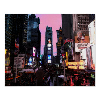 Times squares poster