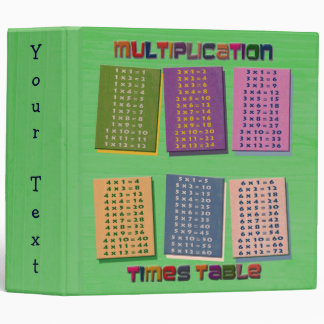 "Times Table 2"" Binder"
