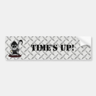 Time's Up Bumper Stickers