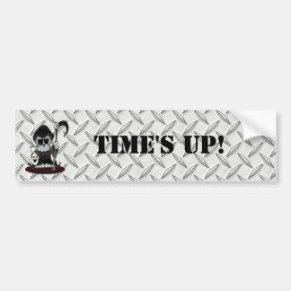Time's Up Car Bumper Sticker