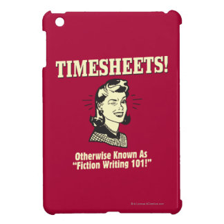 Timesheets: Fiction Writing 101 iPad Mini Cases