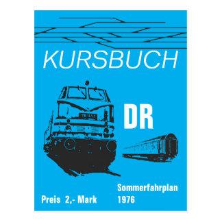 Timetable Design German National Railroad Postcard