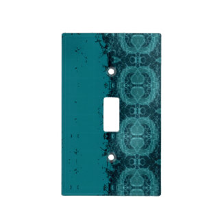 Timeworn Blue Fragment Light Switch Cover