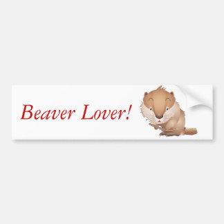 Timid Beaver Bumper Sticker