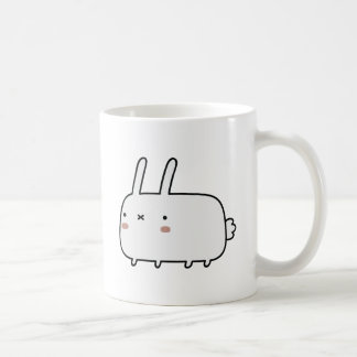 Timid Rabbit Classic White Coffee Mug