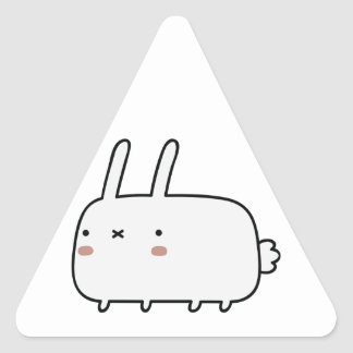 Timid Rabbit Triangle Sticker