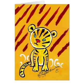 Timid Tiger Card