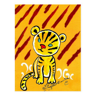 Timid Tiger Post Cards