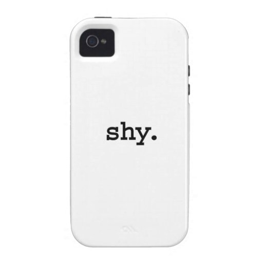 tímido iPhone 4 funda