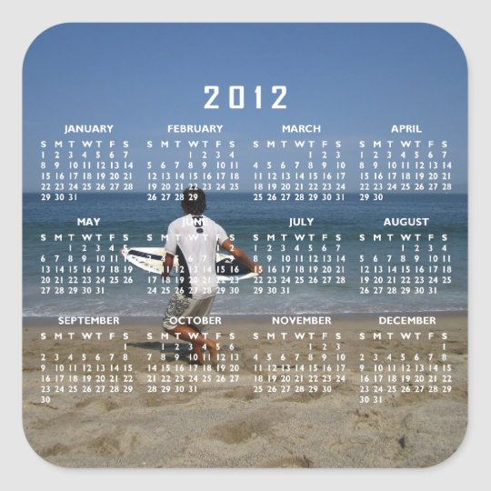 Timing is Everything; 2012 Calendar Square Sticker